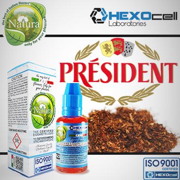 ELİKİT - NATURA/HEXOCELL - 30ml - MR. PRESIDENT 9mg ( ORTA NİKOTİNLİ ) - PG+VG