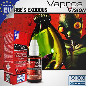 ELİKİT - VISION/VAPROS - 30ml ABE'S EXODDUS - 18mg %80 VG ( YÜKSEK NİKOTİNLİ )