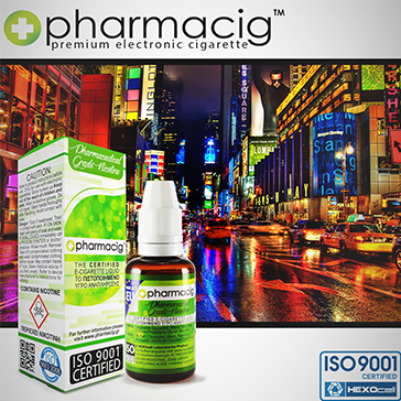 ELİKİT - PHARMACIG - 30ml NEW YORK CITY - 9mg %80 VG ( ORTA NİKOTİNLİ )