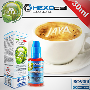 ELİKİT - NATURA - 30ml JAVA COFFEE - 6mg %80 VG ( DÜŞÜK NİKOTİNLİ )