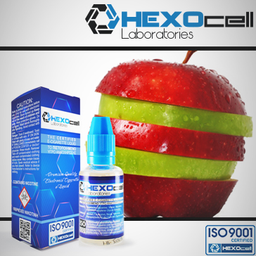 ELİKİT - HEXOCELL - 30ml DOUBLE APPLE - 9mg %80 VG ( ORTA NİKOTİNLİ )