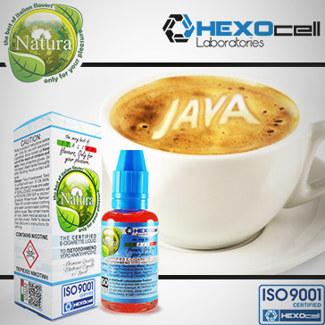 ELİKİT - NATURA - 30ml JAVA COFFEE - 9mg %80 VG ( ORTA NİKOTİNLİ )