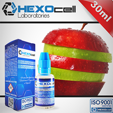 ELİKİT - HEXOCELL - 30ml DOUBLE APPLE - 6mg %80 VG ( DÜŞÜK NİKOTİNLİ )