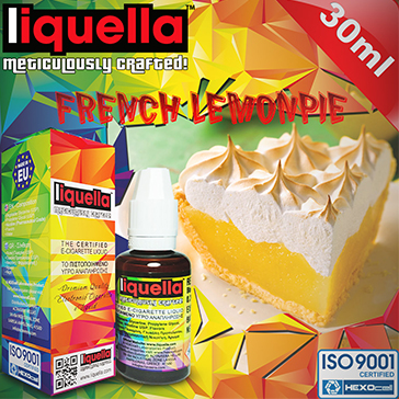 ELİKİT - LIQUELLA - 30ml FRENCH LEMON PIE - 6mg %80 VG ( DÜŞÜK NİKOTİNLİ )