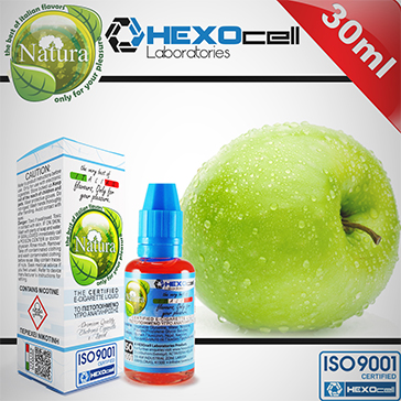 ELİKİT - NATURA - 30ml GREEN APPLE - 6mg %80 VG ( DÜŞÜK NİKOTİNLİ )